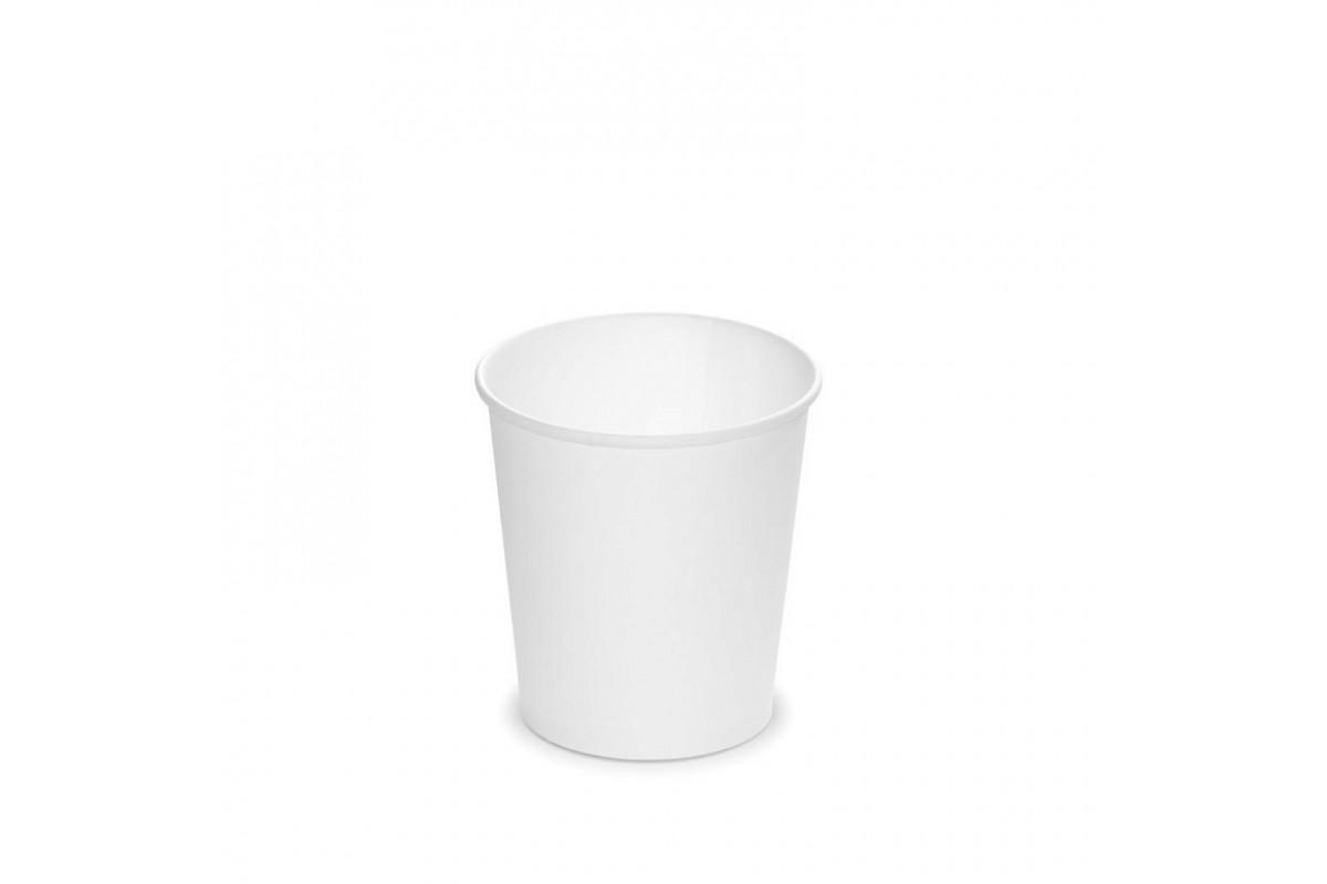 Стаканы однослойные 100мл без дизайна (белые)